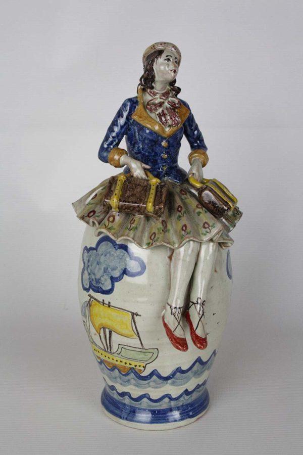 Ceramica fischiante La Viaggiatrice